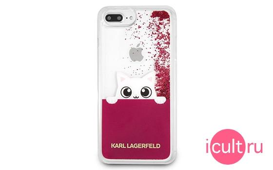 Lagerfeld Liquid Glitter Peek A Boo for iPhone 7/8 Plus