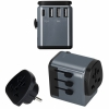СЗУ Momax 1-World AC Travel Adapter PD 3A/3USB/1USB-C/1 розетка Space Grey темно-серое