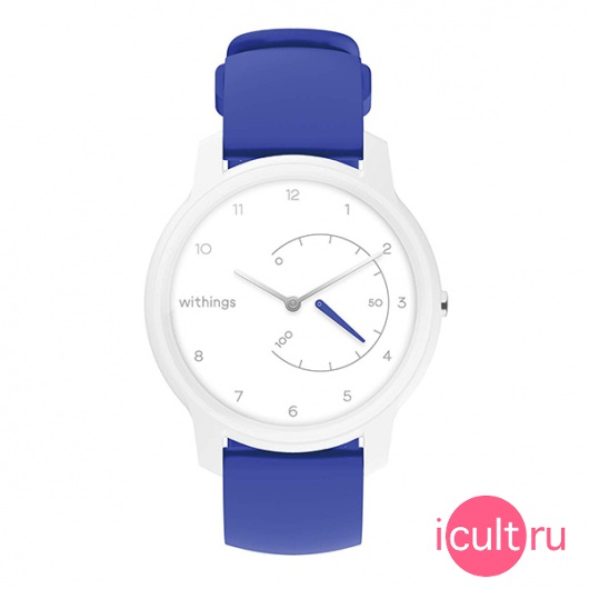 Смарт-часы Withings Move Basic Essentials 38 мм White/Sea Blue белые/синие