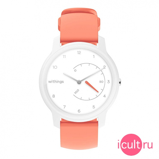 Смарт-часы Withings Move Basic Essentials 36 мм White/Coral белые/коралловые