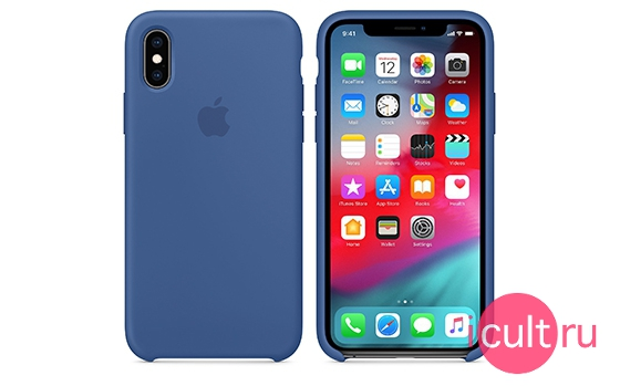 Apple Silicone Case Delft Blue iPhone XS