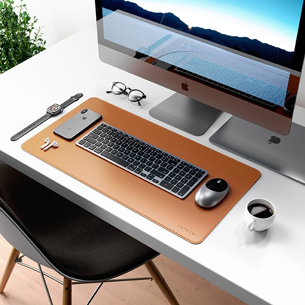 Коврик Satechi Eco-Leather Deskmate Brown коричневый ST-LDMN