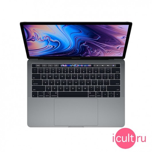 "Ноутбук Apple MacBook Pro 13"" Core i7 4*2,8 ГГц, 16ГБ RAM, 512ГБ Flash Touch Bar Mid 2019 Space Gray серый космос Z0WQ"