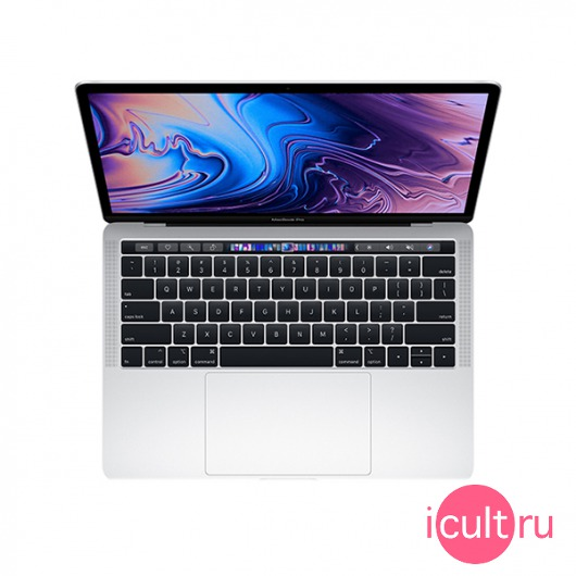 "Ноутбук Apple MacBook Pro 13"" Core i7 4*2,8 ГГц, 16ГБ RAM, 2ТБ Flash Touch Bar Mid 2019 Silver серебристый Z0WS"