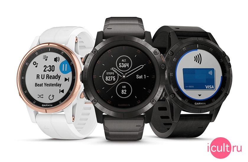 Garmin Fenix 5S Plus White/Seafoam