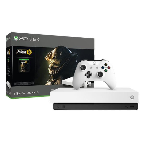 Игровая консоль Microsoft Xbox One X + Fallout 76 + Xbox Live Gold + Xbox Game Pass 1TB HDD White белая
