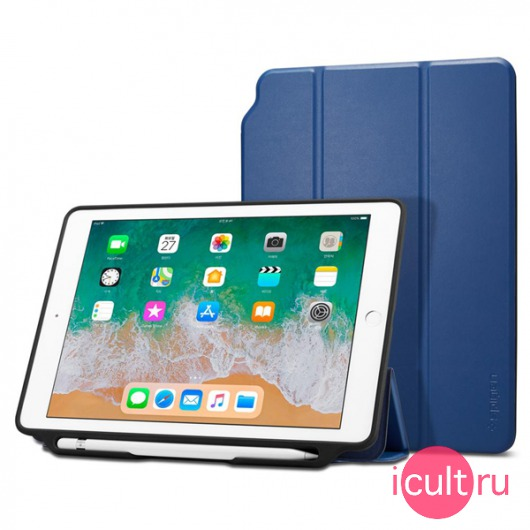 Чехол-книжка Spigen Smart Fold 2 Blue для iPad 9.7 синий 053CS23994