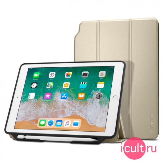 Чехол-книжка Spigen Smart Fold 2 Gold для iPad 9.7 золотой 053CS23993