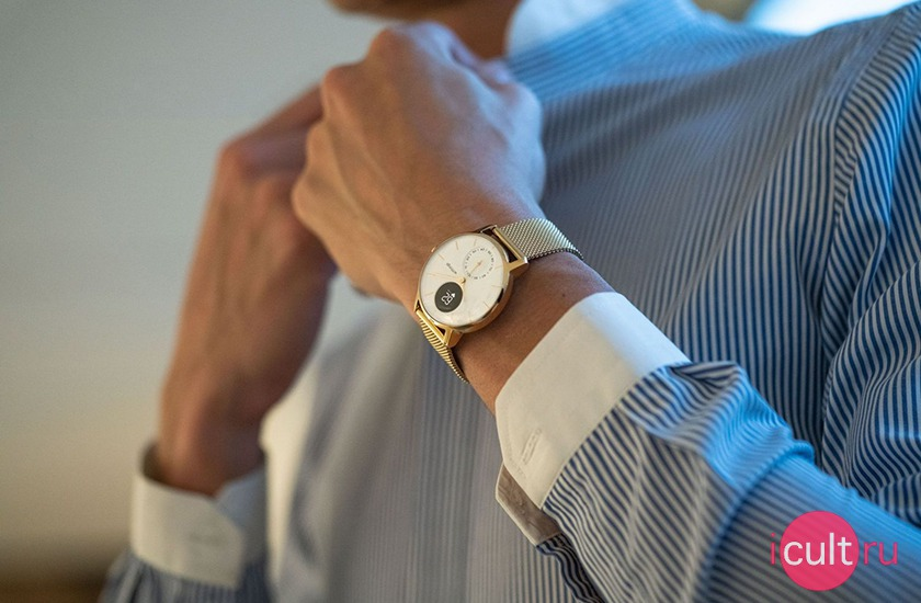 Withings Steel HR 36 мм White/Champagne Gold