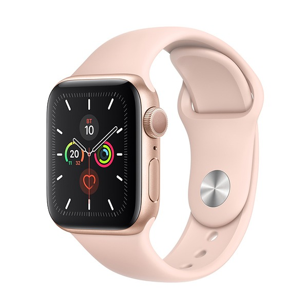 Смарт-часы Apple Watch Series 5 GPS 40mm Aluminum Case with Sport Band Gold/Pink Sand золотистые/розовый песок MWV72