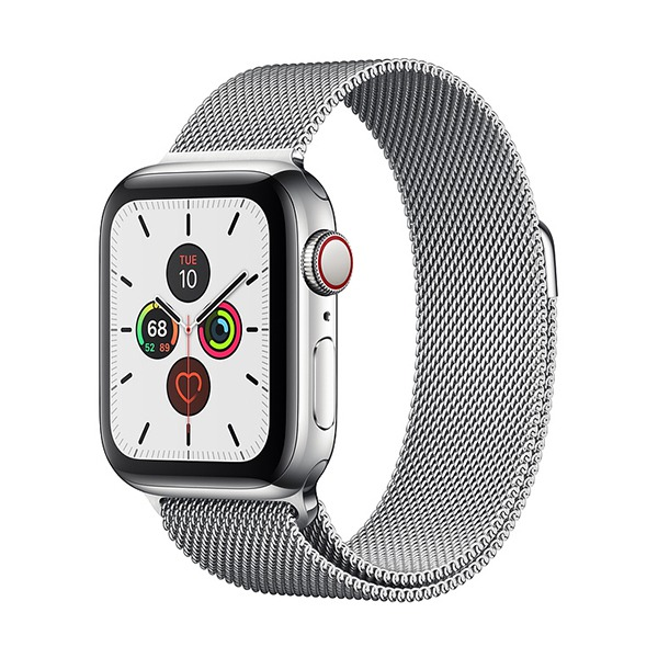 Смарт-часы Apple Watch Series 5 GPS + Cellular 40mm Stainless Steel Case with Milanese Loop Silver серебристые MWWT2