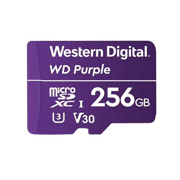 Карта памяти Western Digital WD Purple 256GB MicroSDXC Class 10/UHS-I/U3/V30/100 Мб/с WDD256G1P0A