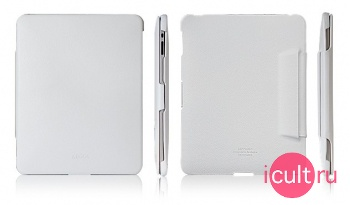 Кожаный чехол SGP Leather Case Argos White for Apple iPad белый SGP06756