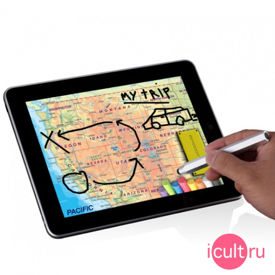 Стилус для iPhone, iPod Touch и iPad - JustMobile AluPen
