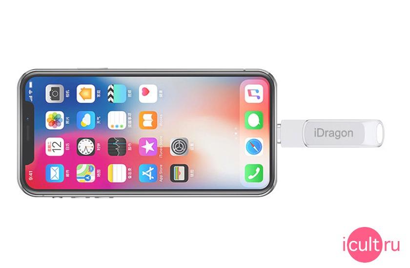 iDragon USB/MicroUSB/Lightning Flash Drive 128GB