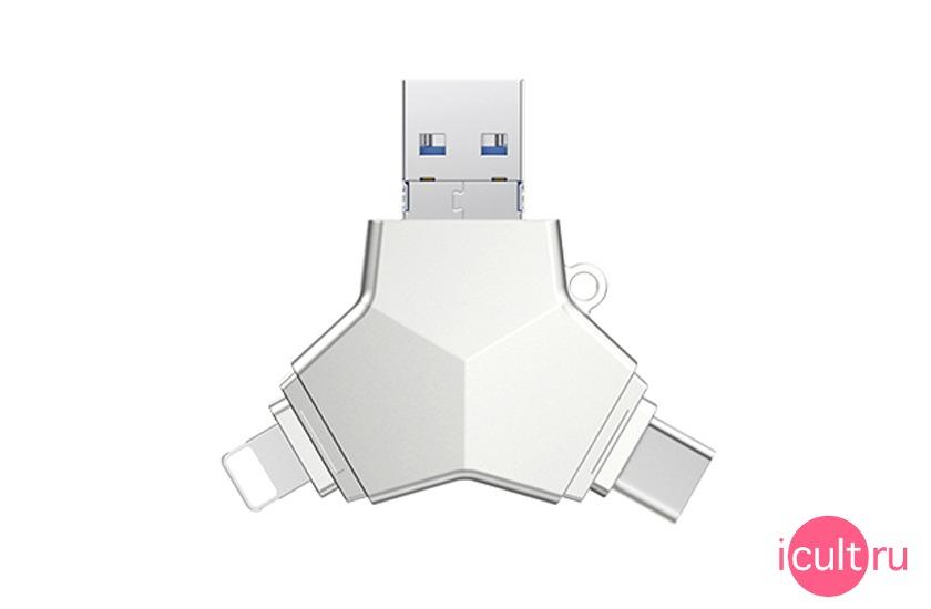 iDragon USB/USB-C/MicroUSB/Lightning Flash Drive 64GB
