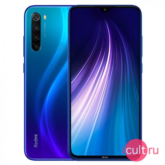 Смартфон Xiaomi Redmi Note 8 4/128GB Neptune Blue синий LTE