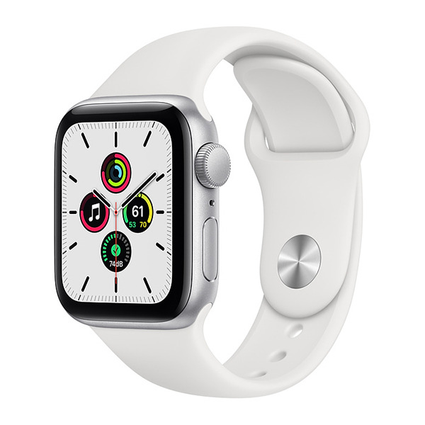 Смарт-часы Apple Watch SE GPS 40mm Aluminum Case with Sport Band Silver/White серебристые/белые MYDM2