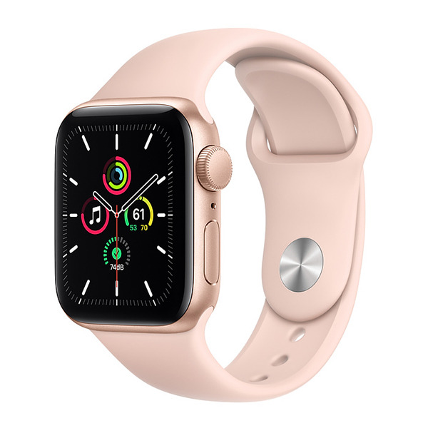 Смарт-часы Apple Watch SE GPS 40mm Aluminum Case with Sport Band Gold/Pink Sand золотистые/розовый песок MYDN2