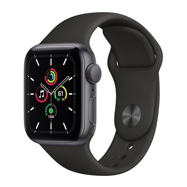 Смарт-часы Apple Watch SE GPS 40mm Aluminum Case with Sport Band Space Gray/Black серый космос/чёрные MYDP2