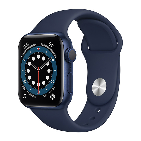 Смарт-часы Apple Watch Series 6 GPS 40mm Aluminum Case with Sport Band Blue/Deep Navy синие/тёмный ультрамарин MG143