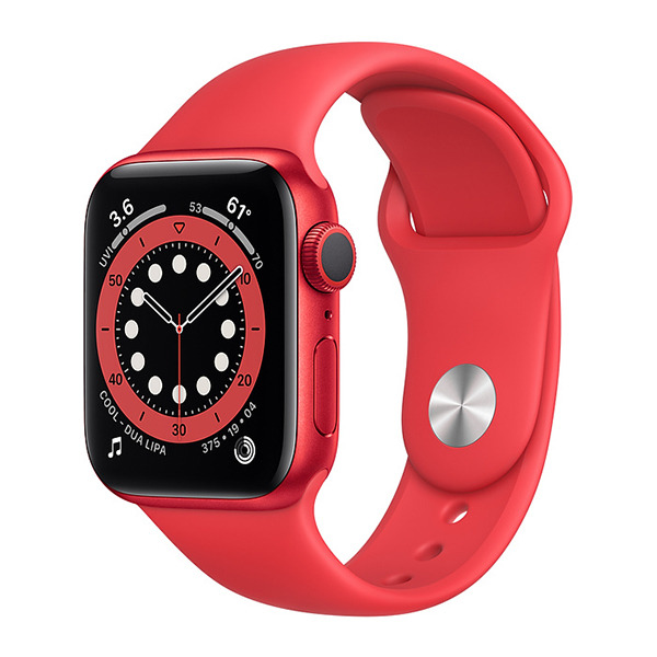 Смарт-часы Apple Watch Series 6 GPS 40mm Aluminum Case with Sport Band (PRODUCT) RED красные M00A3