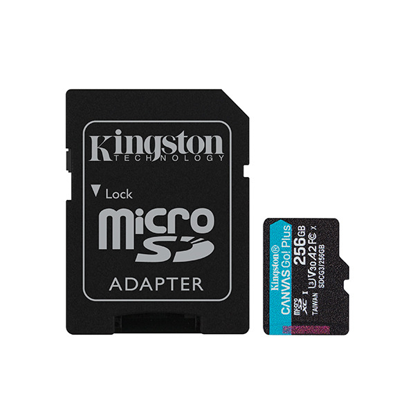 Карта памяти Kingston Canvas Go! Plus 256GB MicroSDXC Class 10/UHS-I/U3/V30/A2/170 Мб/с SDCG3/256GB