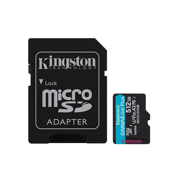 Карта памяти Kingston Canvas Go! Plus 512GB MicroSDXC Class 10/UHS-I/U3/V30/A2/170 Мб/с SDCG3/512GB