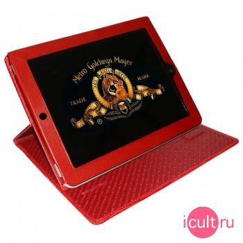 Кожаный чехол Piel Frama iPad Cinema Case Crocodile Red (красный) для iPad