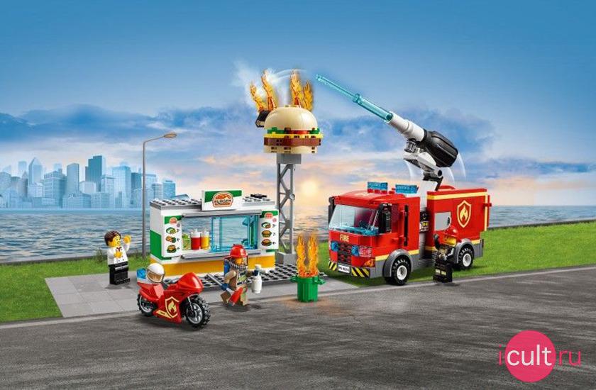 LEGO City 60214 Пожар в бургер-кафе