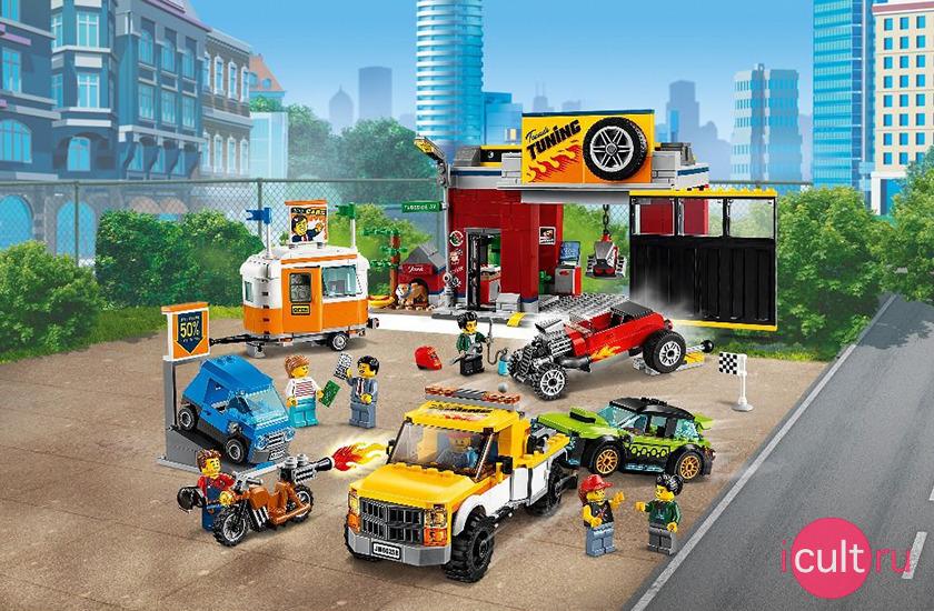 LEGO City 60258 Тюнинг-мастерская