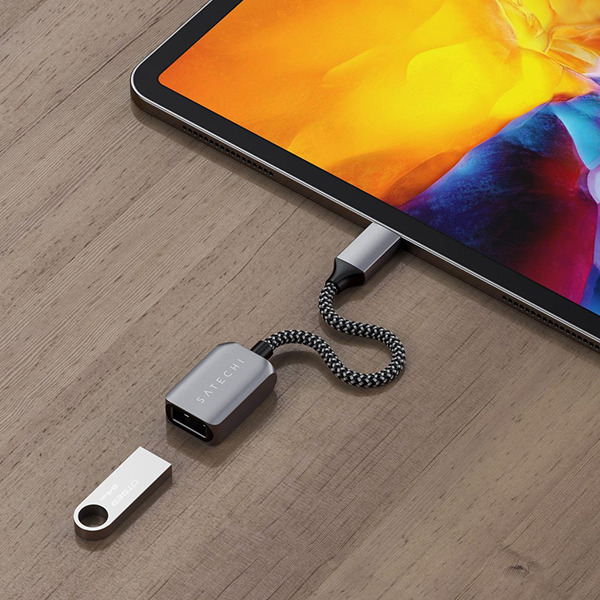 Переходник Satechi USB-C TO USB 3.0 Adapter Cable Space Gray темно-серый ST-UCATCM