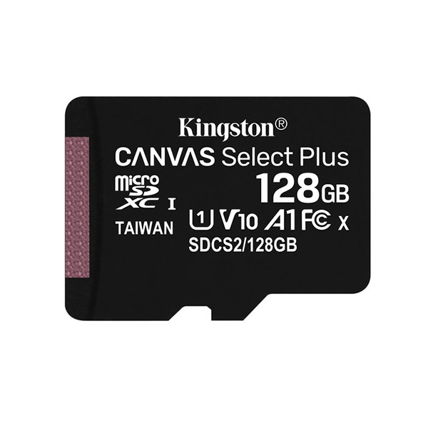 Карта памяти Kingston CANVAS Select Plus 128GB MicroSDXC Class 10/UHS-I/U1/V10/A1/100Мб/с SDCS2/128GBSP