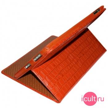 Кожаный чехол Piel Frama iPad Cinema Case Crocodile Orange (оранжевый) для iPad