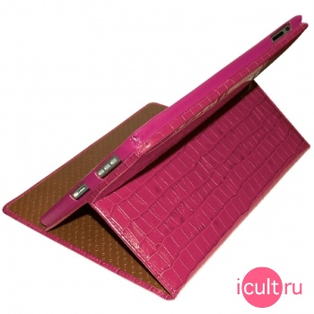 Кожаный чехол Piel Frama iPad Cinema Case Crocodile Pink (розовый) для iPad