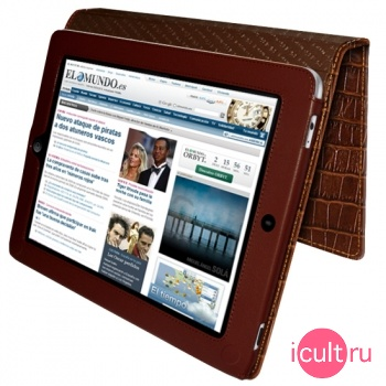 Piel Frama iPad magnetic Case Brown