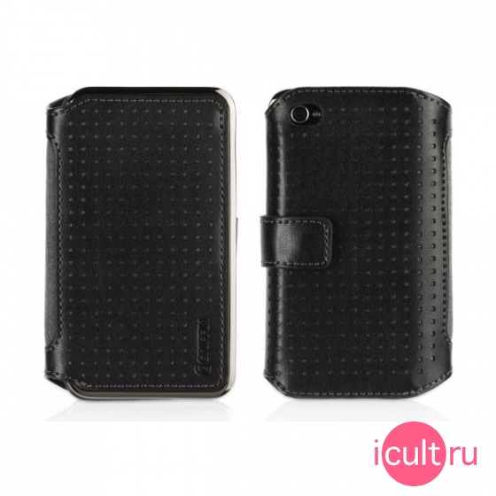 Кожаный чехол Griffin Elan Passport Wallet Black для iPhone 4/4S черный GB01714