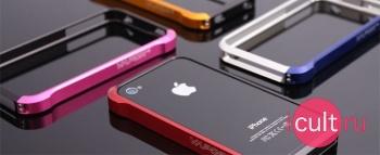 Эксклюзивный металлический чехол-бампер для iPhone 4 Element Case Vapor 4