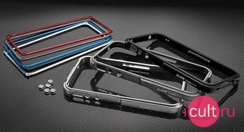 Металлический чехол-бампер для iPhone 4 Tiger Design Blade