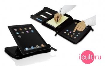 Чехол-ежедневник для iPad 2 Macally Premium Leather Case and Organizer черный BOOKSTANDPRO