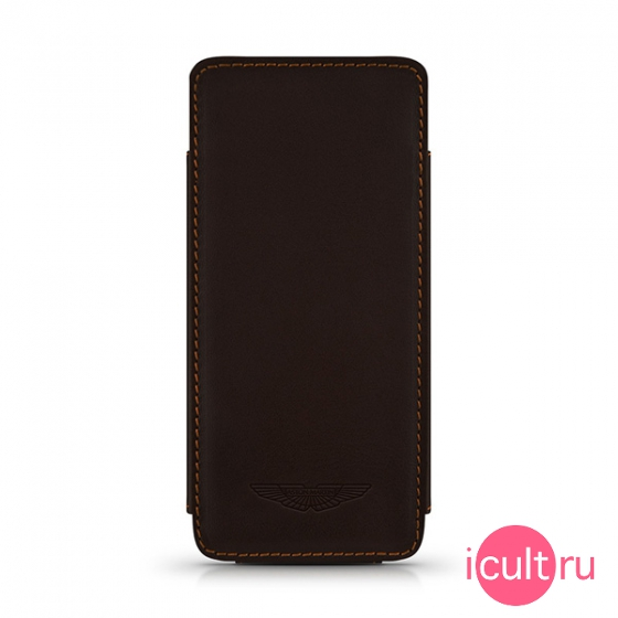 Кожаный чехол Beyzacases Aston Martin Slim TP Case Brown для iPhone 5/SE коричневый AM23523