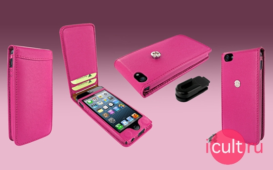 Piel Frama Magnetic Leather Case Pink
