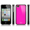 Чехол SGP Linear Color Series Fantasia Hot Pink для iPhone 4/4S черный/розовый SGP07588
