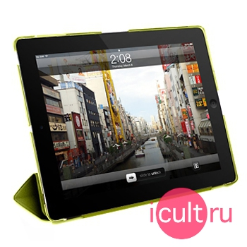 Чехол-подставка Macally Protective Hard-Shell Case With Detachable Cover Green для iPad mini 1/2/3 зелёный CMATEGR-M1