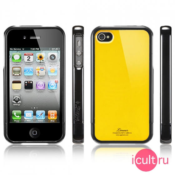 Чехол SGP Linear Color Series Reventon Yellow для iPhone 4/4S SGP07586