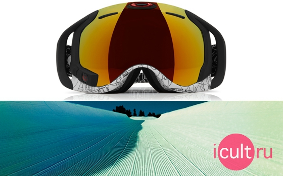 Oakley Airwave Goggles White Factory Text/Fire Iridium