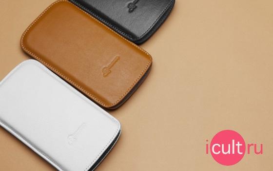 SGP Crumena Leather Pouch Series White