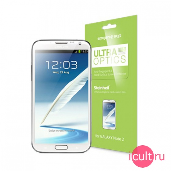 Защитная пленка SGP Screen Protector Steinheil Ultra Optics для Samsung Galaxy Note 2 глянцевая SGP09553