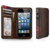 Чехол-книга Twelve South BookBook Brown для iPhone 5/SE коричневый 12-1232