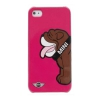 Чехол Mini Hard Case Bulldog Pink для iPhone 5/SE розовый MNHCP5DOBP